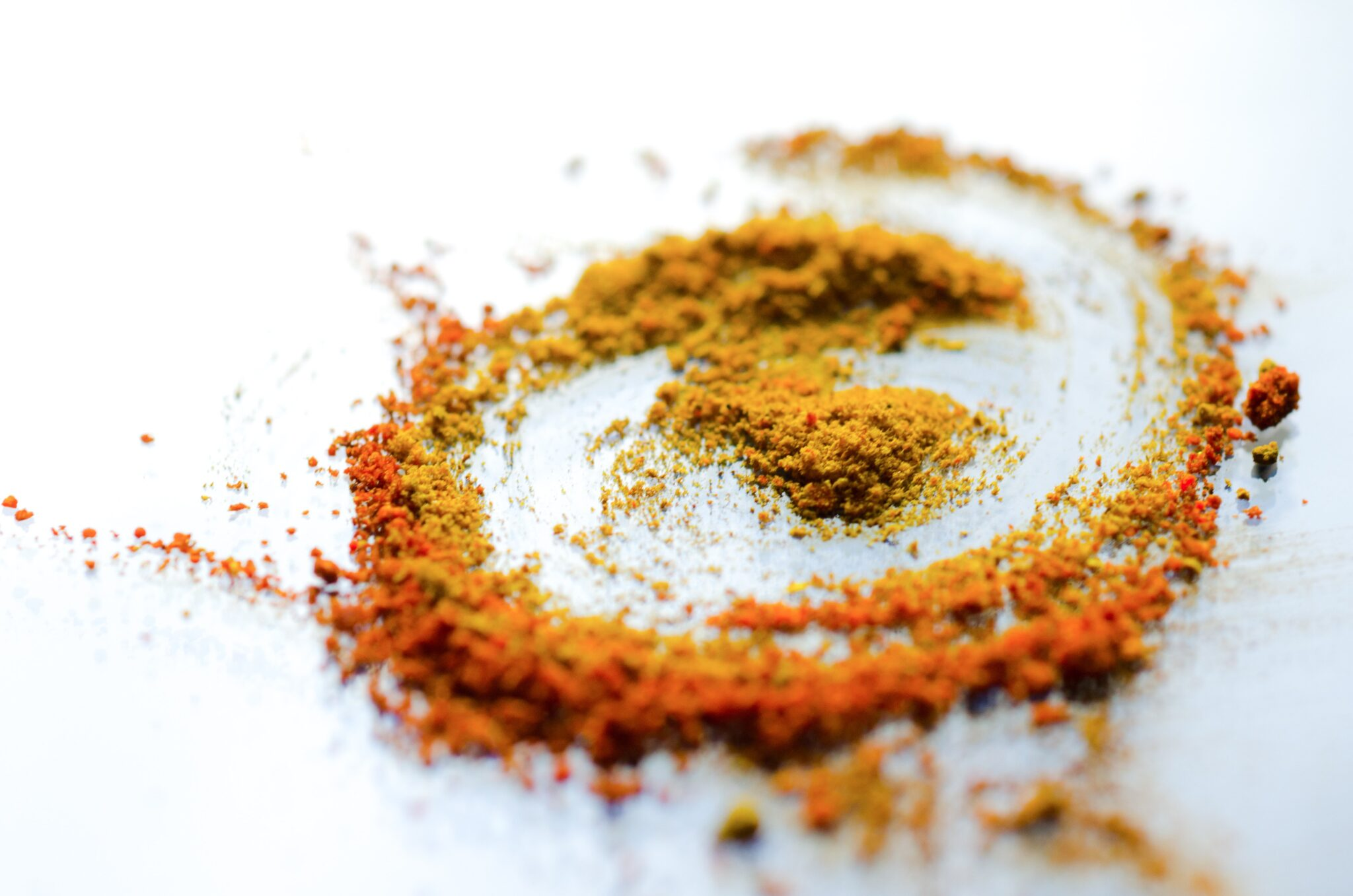 Swirl of spices, ingredients for skincare recipes