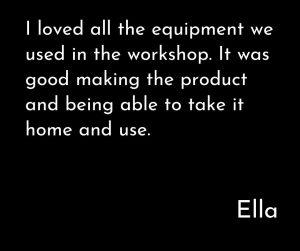 Ella's testimonial for teen skincare workshop