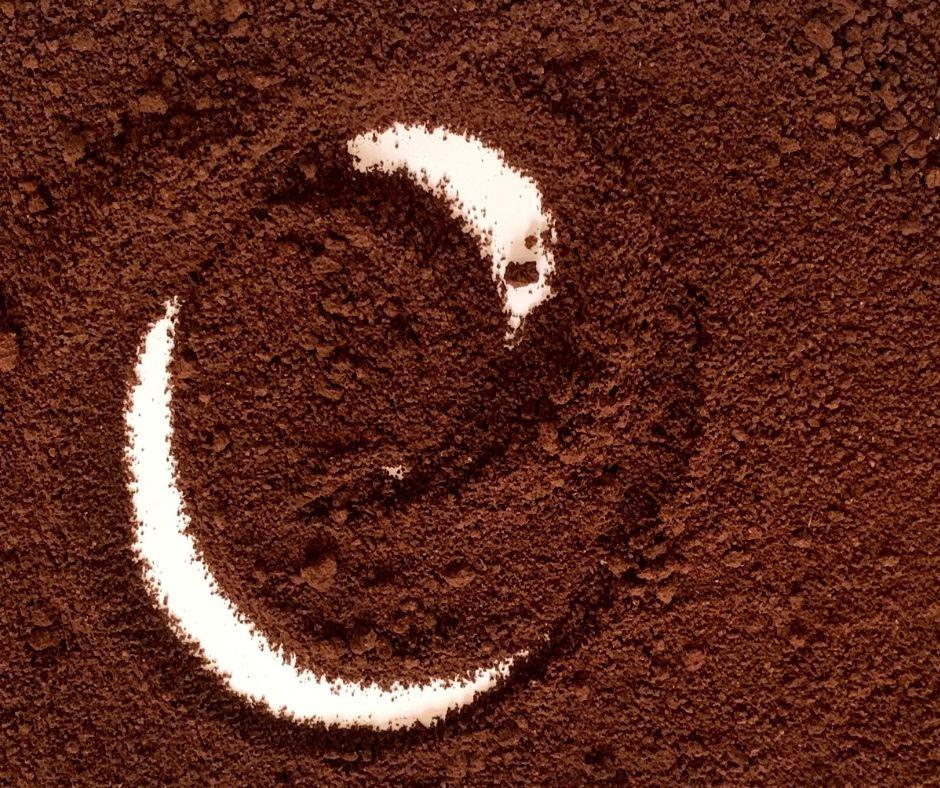 Dried coffee grounds